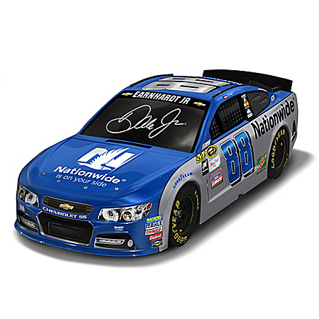 Dale Earnhardt Jr. 2016 #88 Nationwide Chevrolet SS Race Car Sculpture