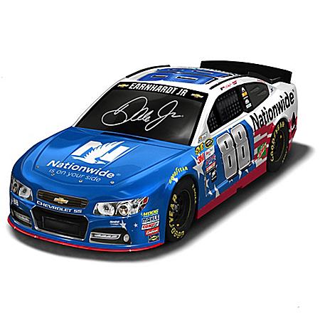 Dale Earnhardt Jr. #88 Stars & Stripes 2016 NASCAR Sprint Cup Series Race Car Sculpture