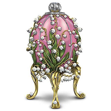 1898 Lilies Of The Valley Egg Figurine Inspired By Peter Carl Faberge