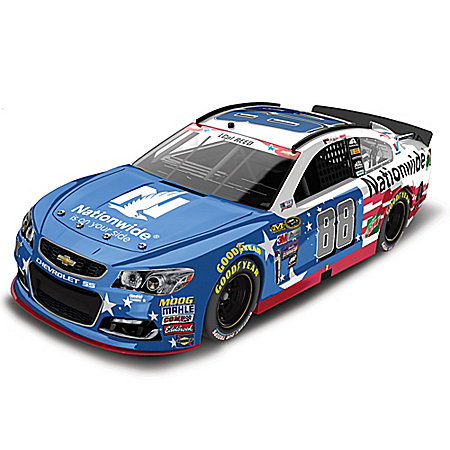 Dale Earnhardt Jr. No. 88 Nationwide Stars & Stripes 2016 NASCAR Sprint Cup Series Diecast Car
