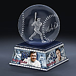 New York Yankees Babe Ruth Laser-Etched Glass Sculpture
