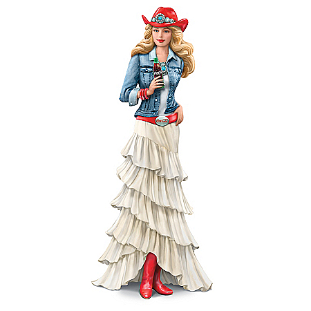 COCA-COLA Red, White And Refreshing Hand-Painted Figurine