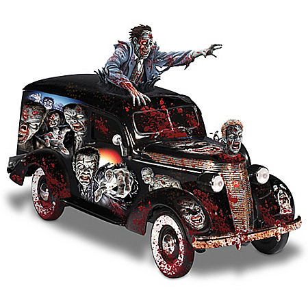 Dave Aikins: Rising Dead Zombie Hearse Sculpture