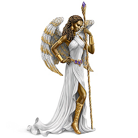 Keith Mallett: Wisdom Of The Amethyst Angel Figurine