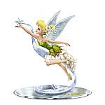 Disney Dream, Believe And Sparkle Tinker Bell Figurine With Swarovski Crystals