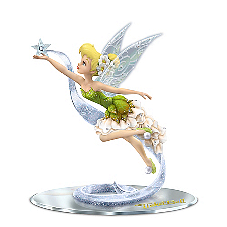 Disney Dream, Believe And Sparkle Tinker Bell Figurine With Swarovski Crystals