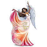 Maya Angelou Let Faith Be The Bridge Handcrafted Angel Figurine