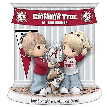 Together We're A Winning Team Alabama Crimson Tide Precious Moments Figurine