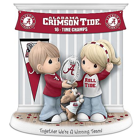 2015 National Champions Alabama Crimson Tide Precious Moments Porcelain Figurine