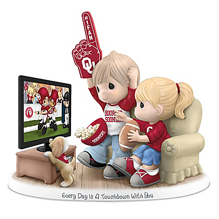 Every Day Is A Touchdown With You Oklahoma Sooners Precious Moments Figurine