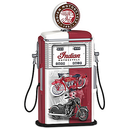 Fueled To Impress Indian Motorcycle 1950s-Style Gas Pump Sculpture