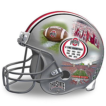 Ohio State Buckeyes Collage Football Helmet Sculpture