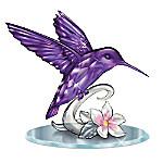 Beauty Of The Amethyst Crystalline Hummingbird Figurine