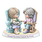 Precious Moments Always My Sister Forever My Friend Handcrafted Porcelain Figurine