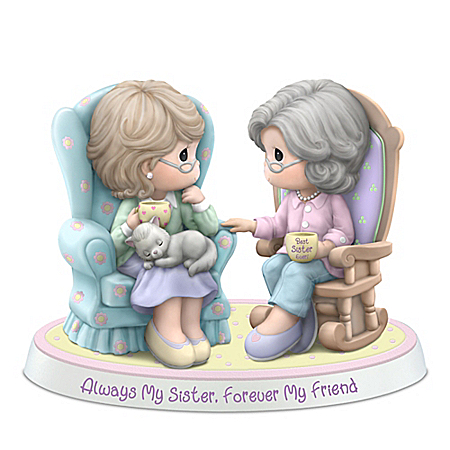 Precious Moments Always My Sister Forever My Friend Porcelain Figurine