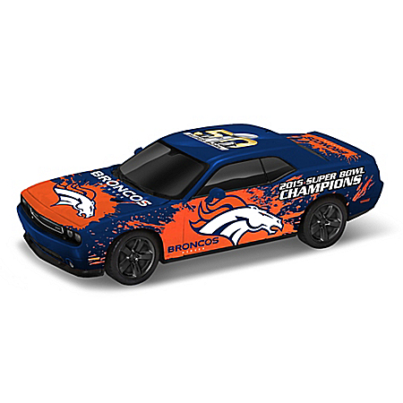 Denver Broncos Power & Pride Super Bowl Victory Car Sculpture