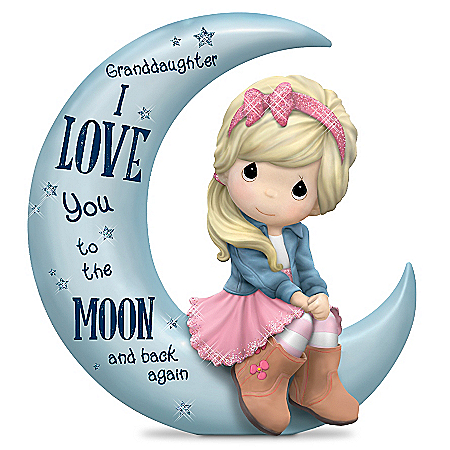 Precious Moments Granddaughter, I Love You To The Moon And Back Figurine