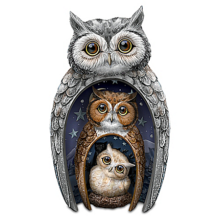 Eyes Of Wisdom Owls Nesting Figurine Set