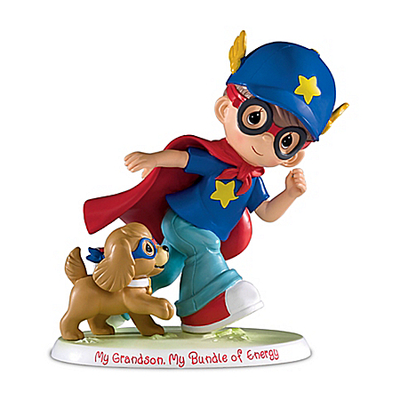Precious Moments My Grandson My Bundle Of Energy Handcrafted Figurine