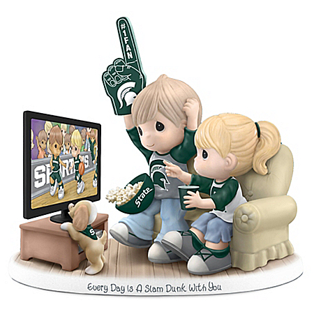 Officially Licensed Michigan State Spartans Precious Moments Porcelain Figurine