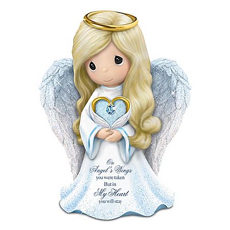 Precious Moments Memories Of Love Guardian Angel Figurine: Hamilton Collection