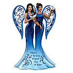 Keith Mallett Blue Willow Angel There's No Better Friend Than A Sister Figurine