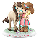 Precious Moments You Hold The Reins To My Heart Figurine