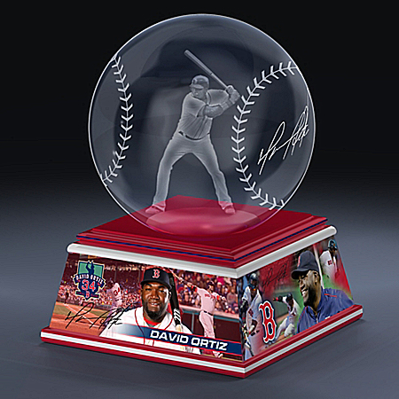 Boston Red Sox David Ortiz Laser-Etched Baseball Sculpture