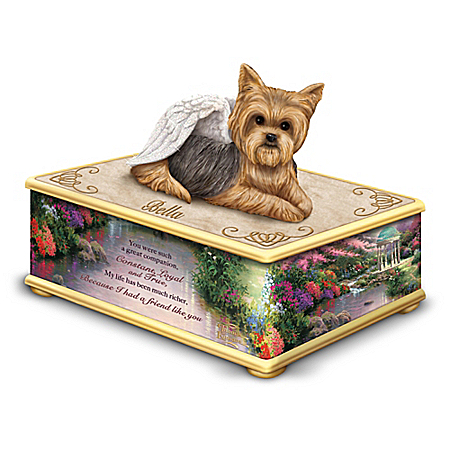 Thomas Kinkade My Forever Friend Personalized Yorkie Keepsake Box