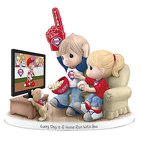 Precious Moments Philadelphia Phillies Porcelain Figurine: Hamilton Collection