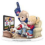 Precious Moments Every Day Is A Home Run With You Texas Rangers Figurine
