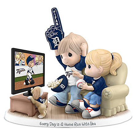 Precious Moments Detroit Tigers Fan Porcelain Figurine: Hamilton Collection