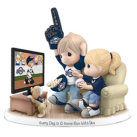 Precious Moments Milwaukee Brewers Fan Porcelain Figurine: Hamilton Collection