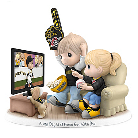 Precious Moments Pittsburgh Pirates Fan Porcelain Figurine: Hamilton Collection