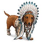 Chief Barks A Lot Native American Inspired Dachshund Figurine