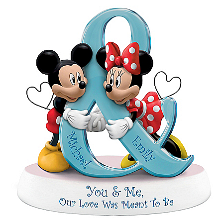 Disney You & Me, Our Love Was Meant To Be Personalized Figurine