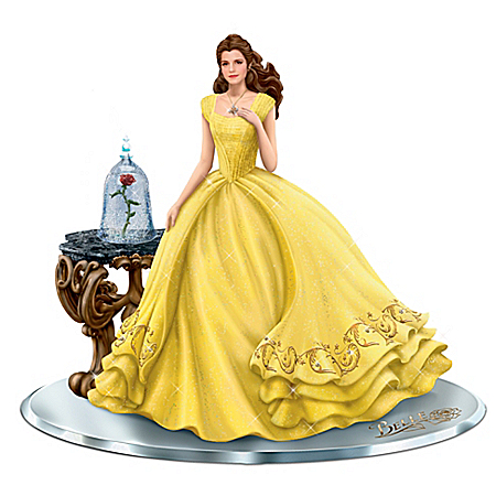 Disney Beauty And The Beast Belle Figurine With Swarovski Crystals