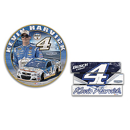 Kevin Harvick No. 4 Busch Signs Of A Champion Wall Decor