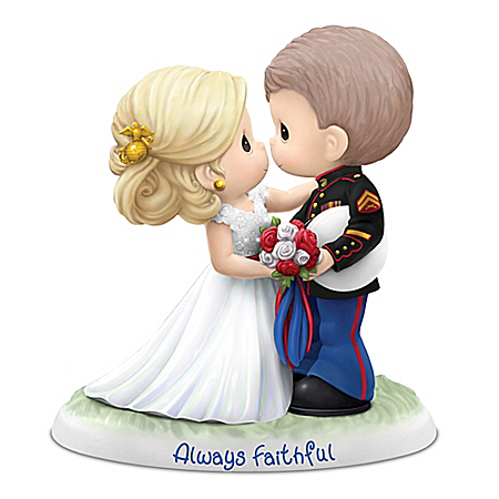 Precious Moments USMC Always Faithful Figurine