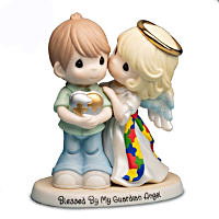 Precious Moments Blessed By My Guardian Angel Autism Awareness Figurine