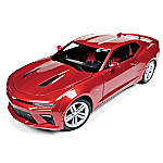 1 - 18-Scale Red Hot Finish 2016 Chevrolet Camaro SS Diecast Car