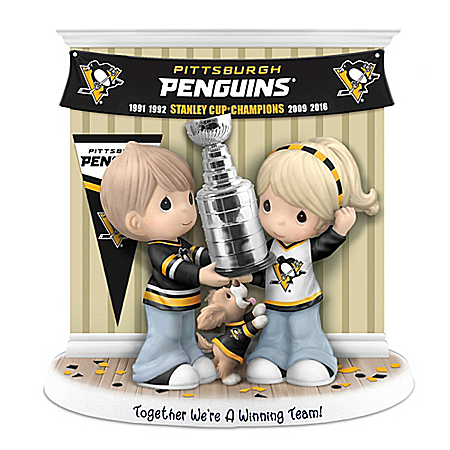 Precious Moments Together We're A Winning Team Pittsburgh Penguins® Figurine 907032001