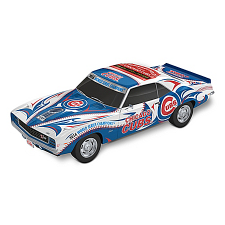 Chicago Cubs World Series Champions 1969 Chevy Camaro Sculpture: 1:18 Scale
