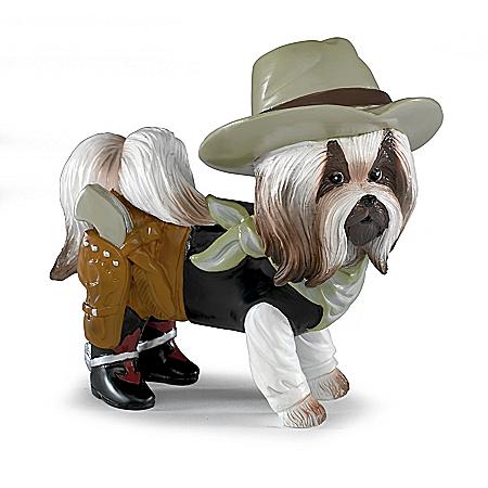Dog-Gone Dueller Figurine Handcrafted Shih Tzu Figurine