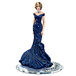 Royal Blue Radiance Hand-Painted Princess Diana Figurine