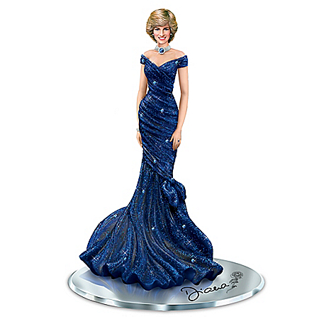 Royal Blue Radiance Hand-Painted Princess Diana Figurine