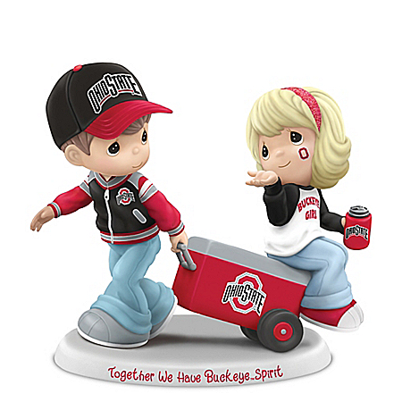 Licensed Ohio State Buckeyes Precious Moments Tailgating Fans Figurine
