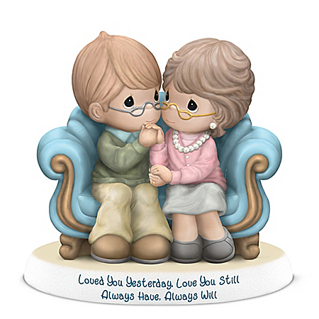 Precious Moments Loved You Yesterday Love You Still Porcelain Figurine