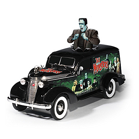 Riding With The Munsters Hearse Sculpture