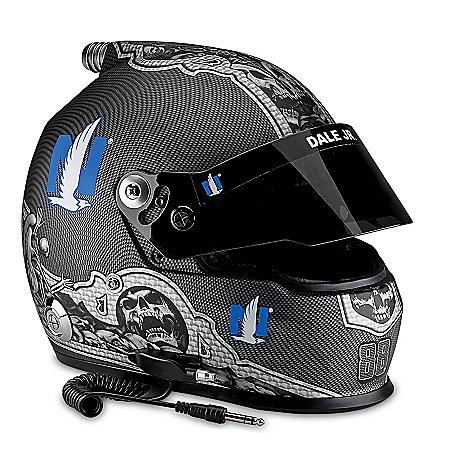 Dale Earnhardt Jr. #88 Nationwide NASCAR Full-Sized Skull Racing Helmet